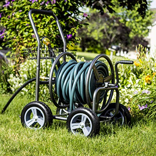 Backyard Expressions Commercial Hose Reel Cart review