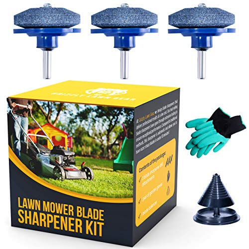 Grizzly Lawn Gear Lawn Mower Blade Sharpener Kit review