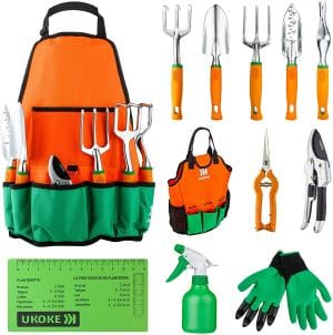 UKOKE Garden Tool Set, 12 Piece review