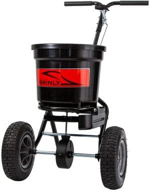 Brinly P20-500BHDF Push Spreader with Side Deflector Kit review