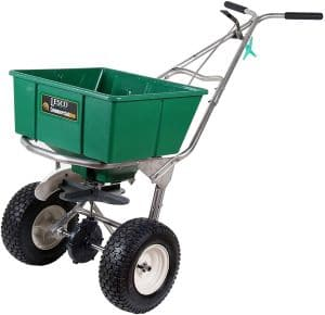 Lesco High Wheel Fertilizer Spreader with Manual Deflector review